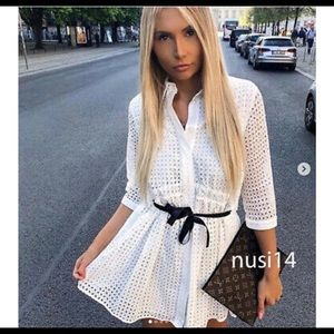 ❤️❤️ZARA EMBROIDERED DRESS WITH BOWS